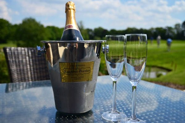 champagne bucket on terrace
